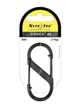 Nite Ize S-Biner Stainless Steel 2-3/8 in. L Carabiner Key Holder 25 lb. Black Stainless Steel