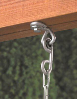 Swing Hanger, 120 Lb, Dual Fastening Seat, Metal