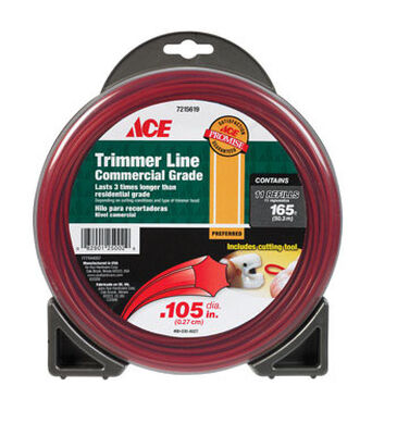 Ace Commercial Trimmer Line 0.105 in. Dia. x 165 ft. L 11 refill