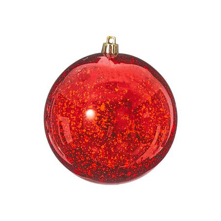 "4"" Red Mercury Glass Ball"