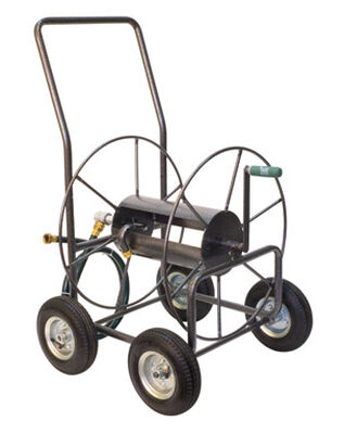 Yard Butler Wheeled Hose Cart 400 ft. Silver