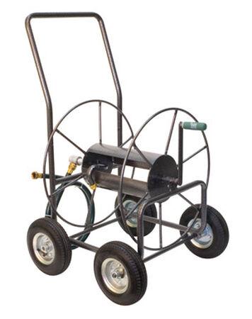 Yard Butler Wheeled Hose Cart 400 ft. Silver