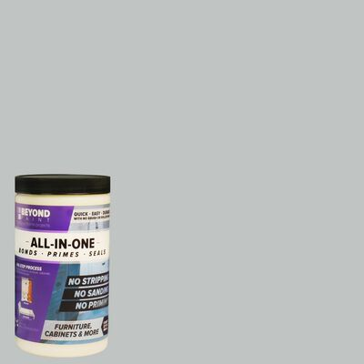 BEYOND PAINT Matte Soft Gray Water-Based Acrylic All-In-One Paint 1 qt.