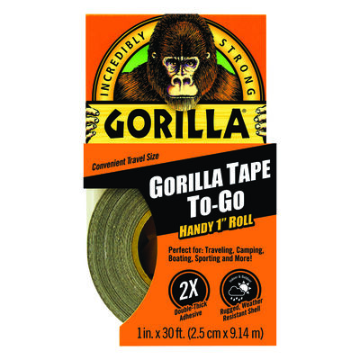 Gorilla 1 in. W x 10 yd. L Gorilla Tape To-Go