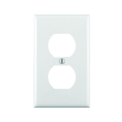 Leviton 1 gang White Nylon Duplex Outlet Wall Plate 1 pk