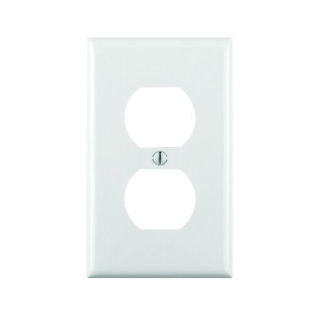 Leviton 1 gang White Nylon Duplex Outlet Wall Plate 1 pk