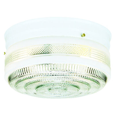 Westinghouse White Ceiling Fixture 5 in. H x 8-3/4 in. W