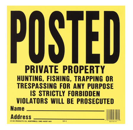 Hy-Ko English 11 in. H x 11 in. W Plastic Sign Posted Private Property