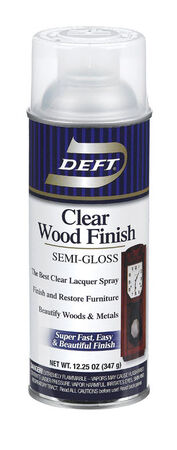 Deft Wood Finish Lacquer Semi-Gloss 12-1/4 oz.