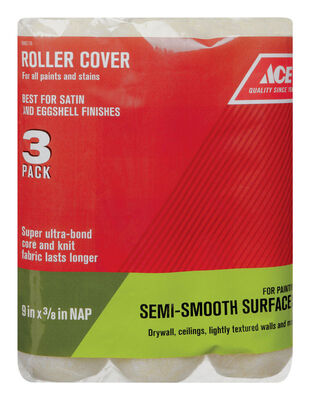 Ace Knit Paint Roller Cover 3/8 in. L x 9 in. W 3 pk