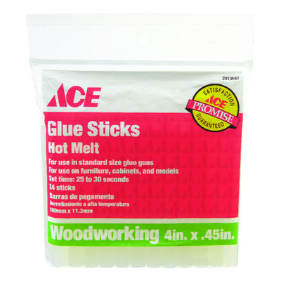 Ace Glue Sticks .45 in. Dia. x 4 in. L 24 pk