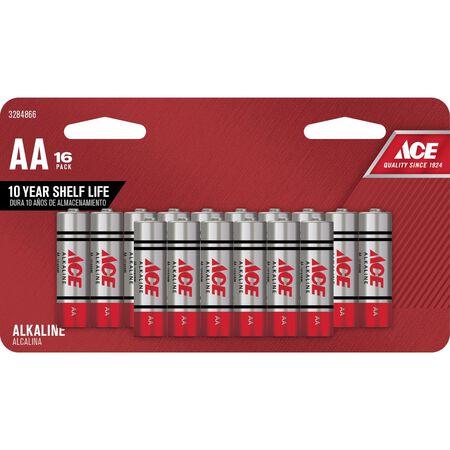 Ace AA Alkaline Batteries 1.5 volts 16 pk