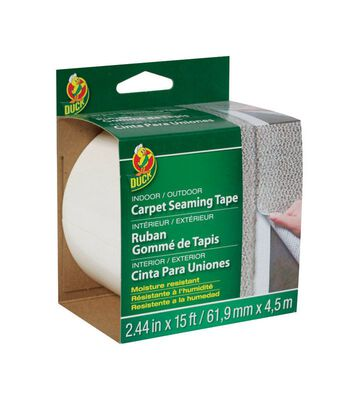 Duck 2.44 in. W x 15 ft. L Carpet Seaming Tape White