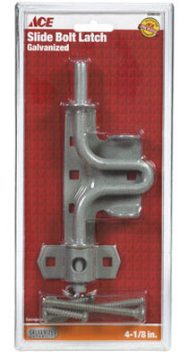 Ace Slide Bolt Gate Latch Swinging 4-1/8 in. For in or Out Swinging Gates Galvanized