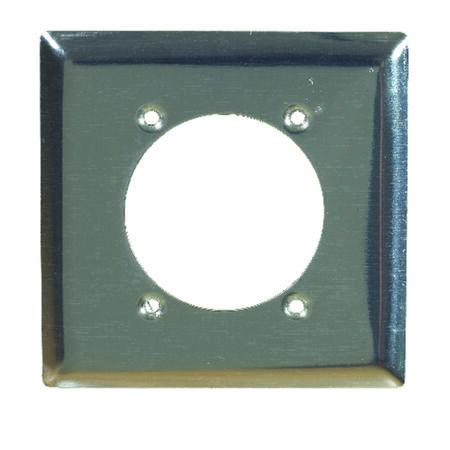 Pass & Seymour 1 gang Chrome Steel Power Outlet Wall Plate 1 pk