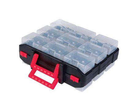 Ace 4 in. L x 4 in. W x 4 in. H Storage Organizer Plastic 18 compartments Black