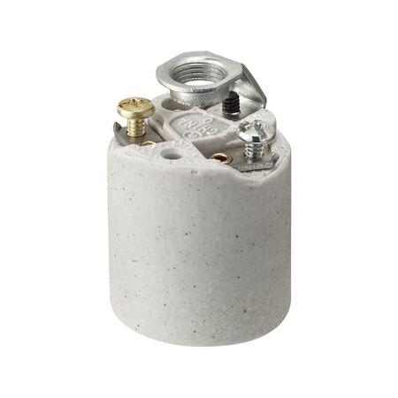 Leviton Keyless Socket 250 volts 660 watts White