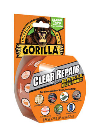 Gorilla 1.88 in. W x 27 ft. L Repair Tape Clear