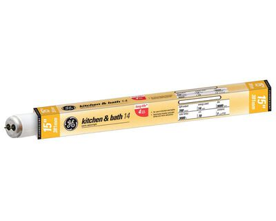 GE Fluorescent Bulb 14 watts 700 lumens Linear T12 15 in. L Warm White 1 pk