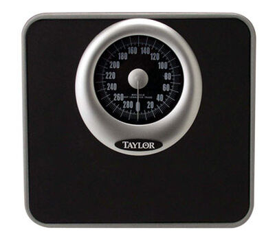 Taylor 300 lb. Analog Mechanical Bathroom Scale Black