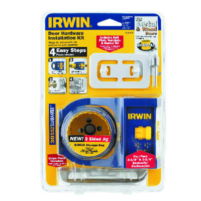 Irwin Door Lock Install Kit Bi-Metal