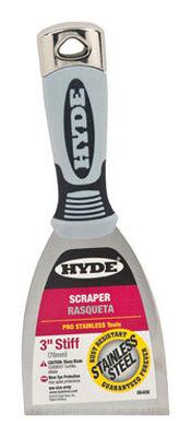 Hyde Stainless Steel Scraper 3 in. W