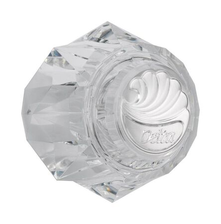 Delta Knob Acrylic Clear Single Tub and Shower Handle