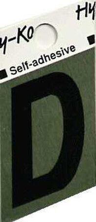 Hy-Ko Self-Adhesive Black 1-1/2 in. Aluminum Letter D