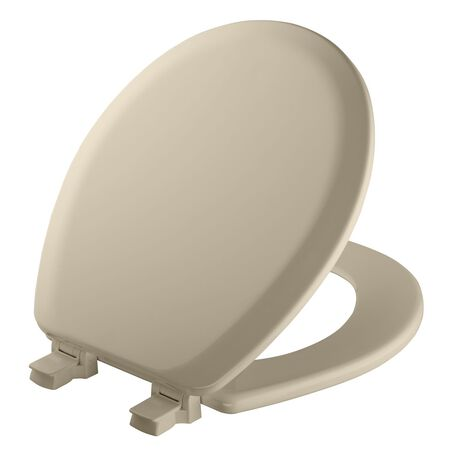 Mayfair Never Loosens Wood Toilet Seat Round Bone