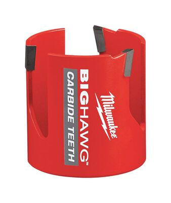 Milwaukee BIG HAWG 2-9/16 in. Dia. x 2-7/16 in. L Carbide Tipped Hole Saw 1/4 in. 1 pc.
