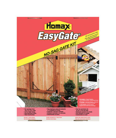 Homax Easy Gate Anti-Sag Gate Kit Black Gloss Steel