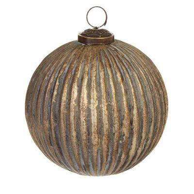 """5"""" Grooved Ball Ornament"""
