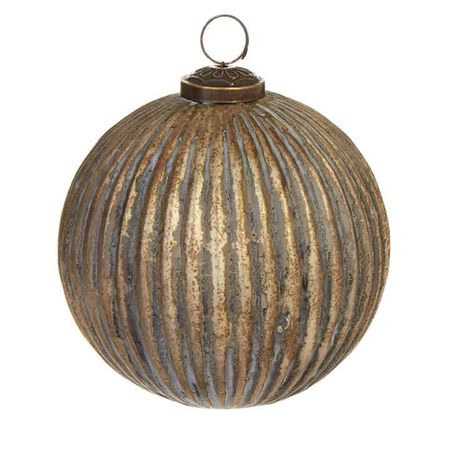 "5"" Grooved Ball Ornament"