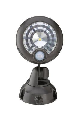 Mr. Beams Security Spotlight Plastic Brown Motion-Sensing LED