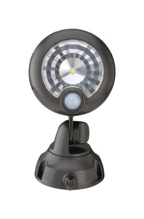 Mr. Beams Security Spotlight Plastic Brown Motion-Sensing LED