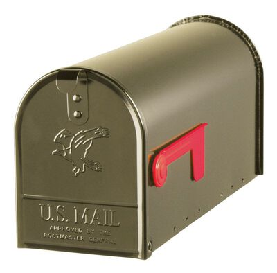 Solar Group Gibraltar Elite Steel Post Mounted Mailbox Venetian Bronze 8-3/4 in. H x 20 in. L