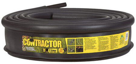 Master Mark Contractor 5.25 in. H x 20 ft. L Black Plastic Lawn Edging