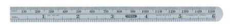 General Tools Precision Pocket Rule 6 in. L x 1/2 in. W