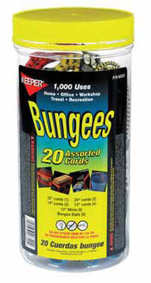 Keeper Corporation Keeper Bungee Cord Set 15 in. 0 lb. 20 pk