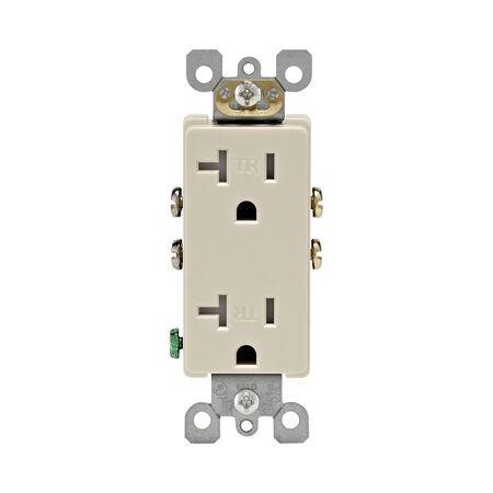 Leviton Decora Duplex Outlet 20 amps 5-20R 125 volts Light Almond