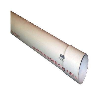 Cresline Sewer and Drain Pipe 4 in. Dia. x 10 ft. L Bell
