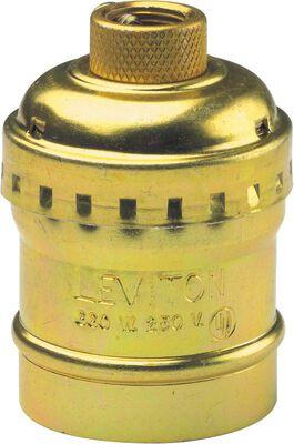 Leviton 660 watts Keyless Socket 250 volts Brass