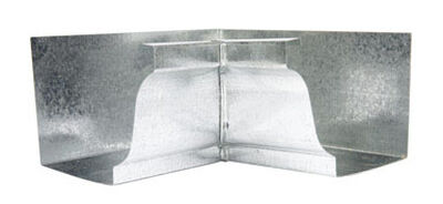 Amerimax 5 L x 5 in. H Galvanized Steel Inside Miter White K