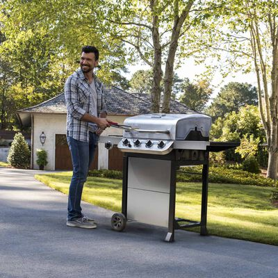 Char-Broil Performance Liquid Propane Freestanding Grill Stainless Steel 4