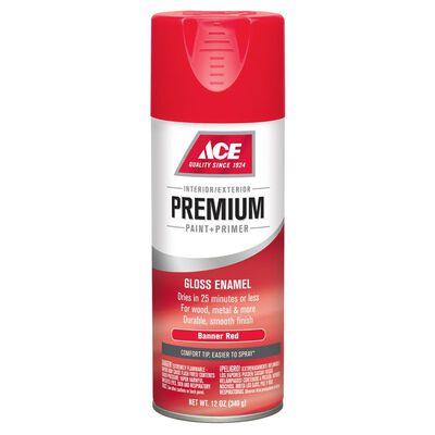 Ace Premium Banner Red Gloss Enamel Spray Paint 12 oz.