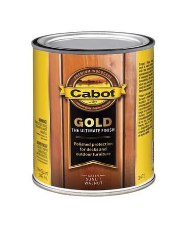 Cabot Gold Outdoor Sunlit Walnut Satin Transparent Deck Varnish 1 qt.