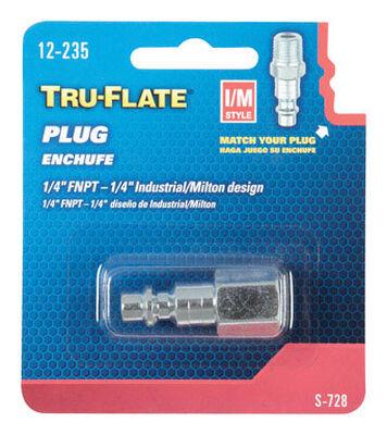 Tru-Flate Steel Air Plug 1/4 in. FNPT Female I/M