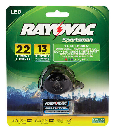 Rayovac Sportsman 22 lumens Headlight LED AAA
