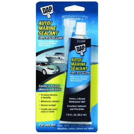 DAP Silicone Rubber Clear Auto/Marine Sealant 2.8 oz.