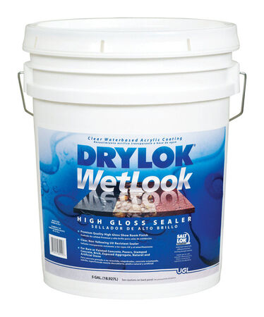 Drylok WetLook Low VOC Concrete And Masonry Sealer Clear 5 gal.